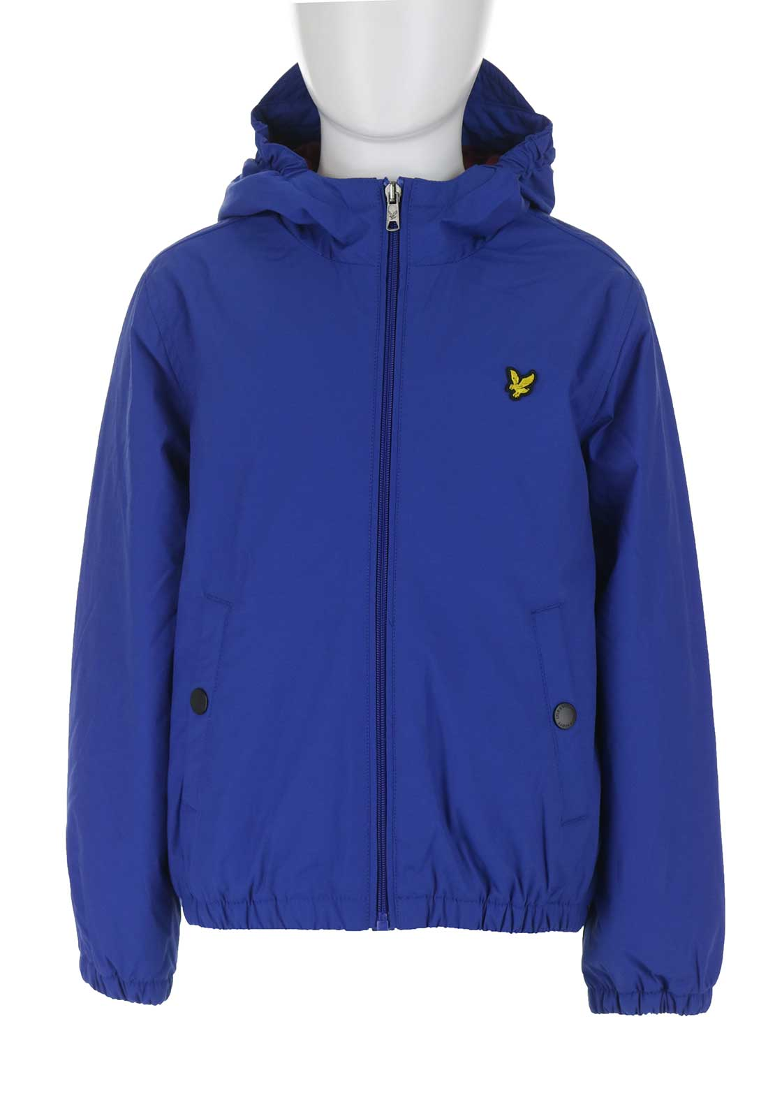 Lyle & Scott Zip Through Hooded Jacket, Blue