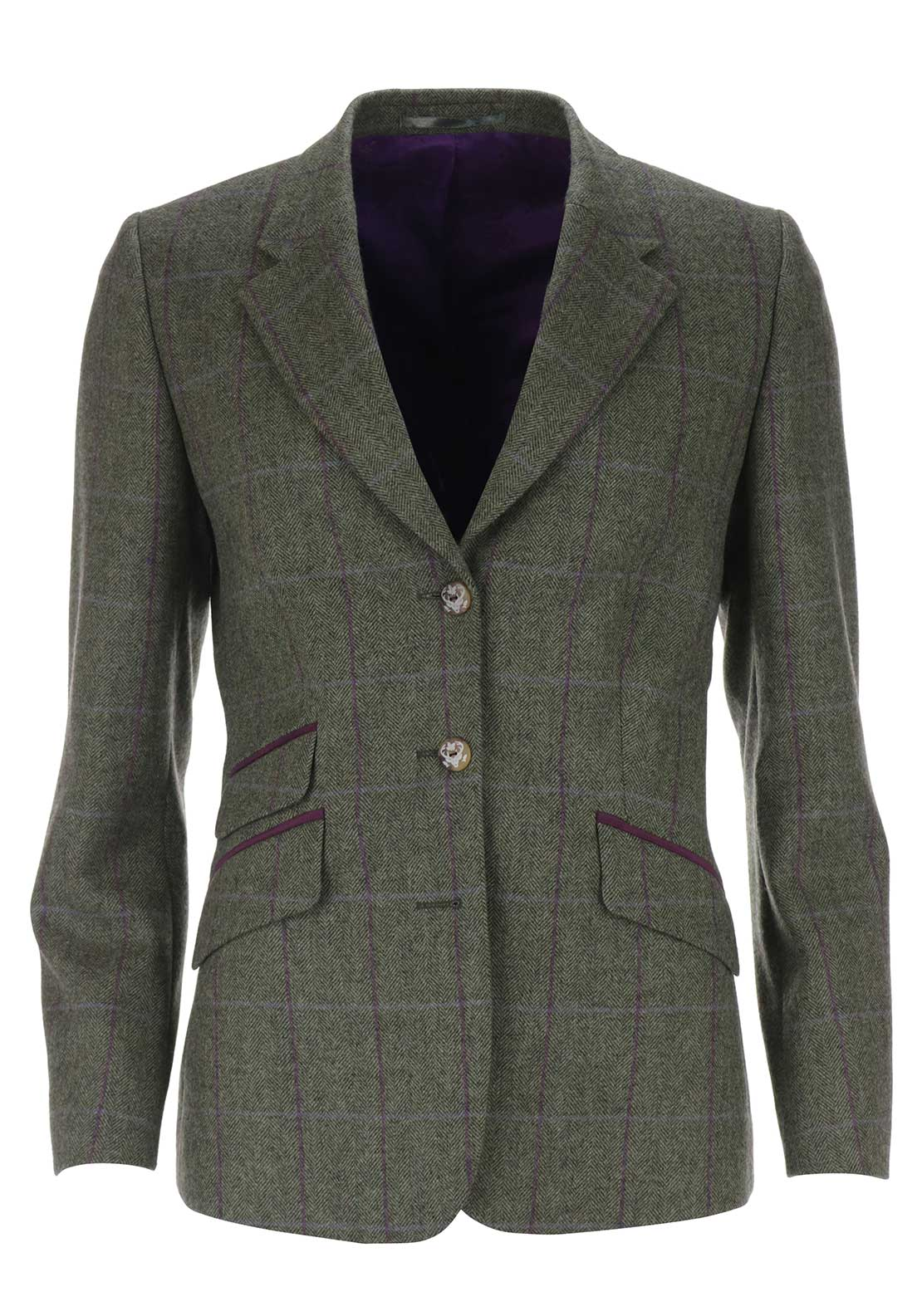 Magee 1866 Womens Cece Tweed Jacket, Green
