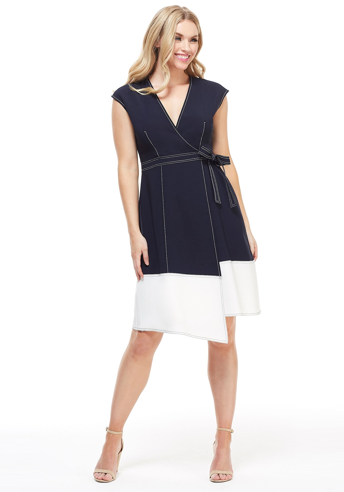 Maggy London Analise Wrap Dress, Navy