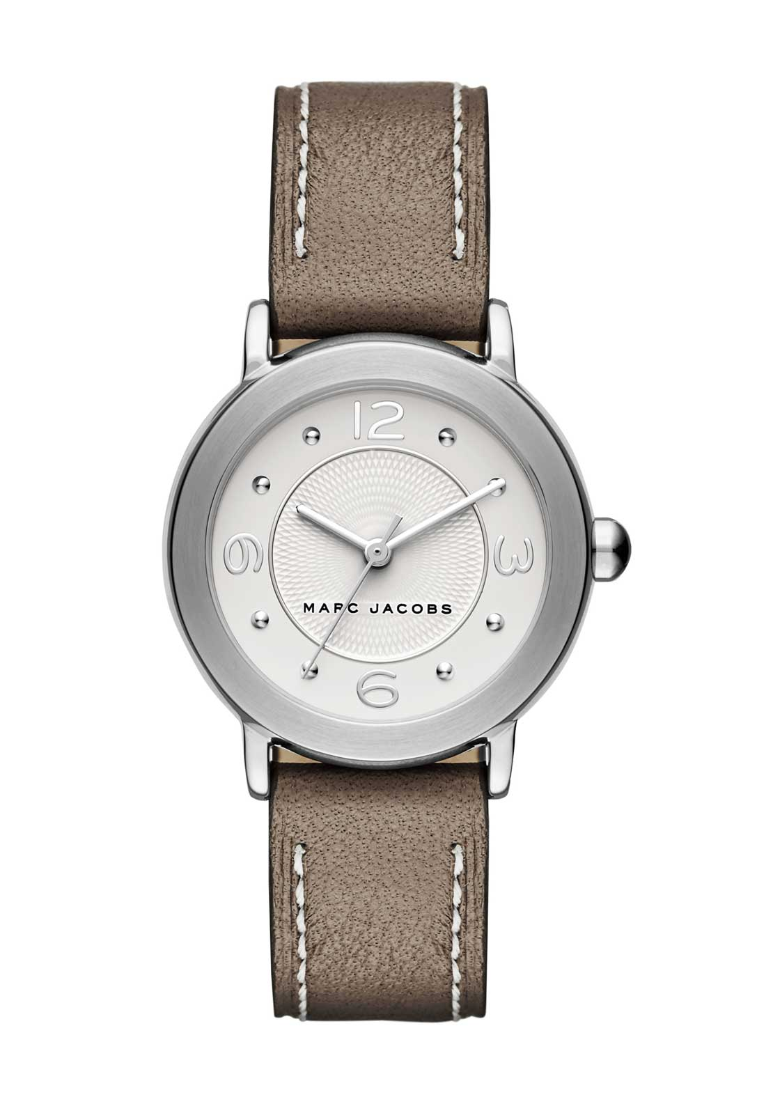 Marc Jacobs Womens Riley Slim Leather Strap Watch, Taupe