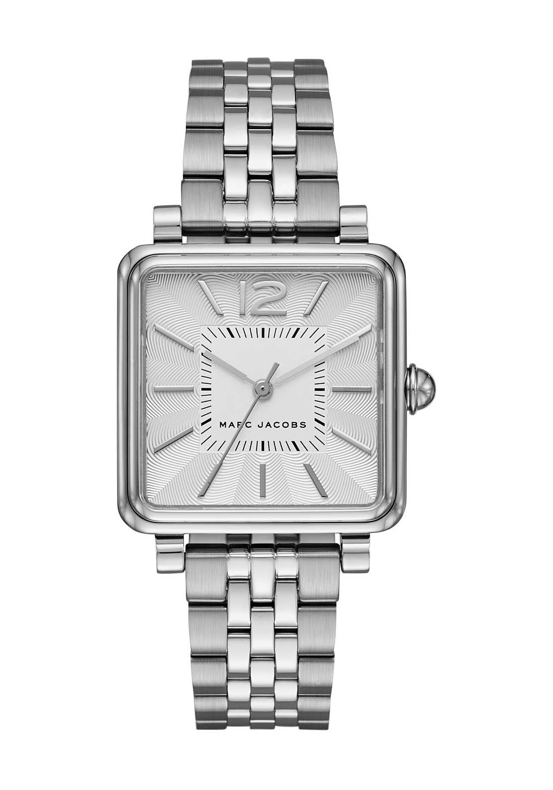Marc Jacobs Womens Vic Square Face Watch, Silver