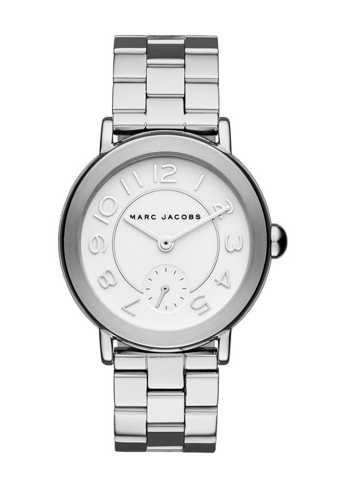Marc Jacobs Womens Riley Watch, Silver