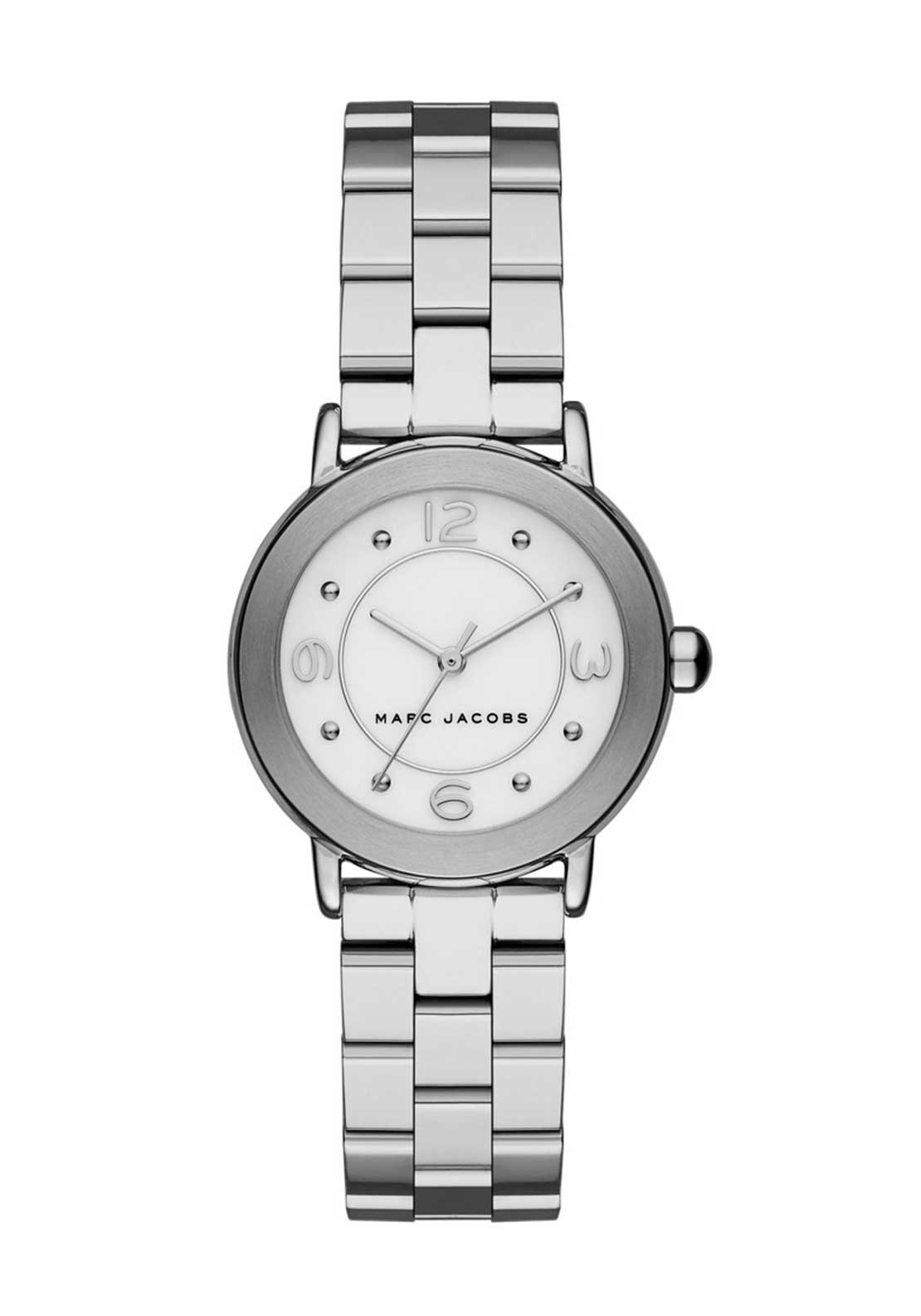 Marc Jacobs Womens Riley Slim Watch, Silver