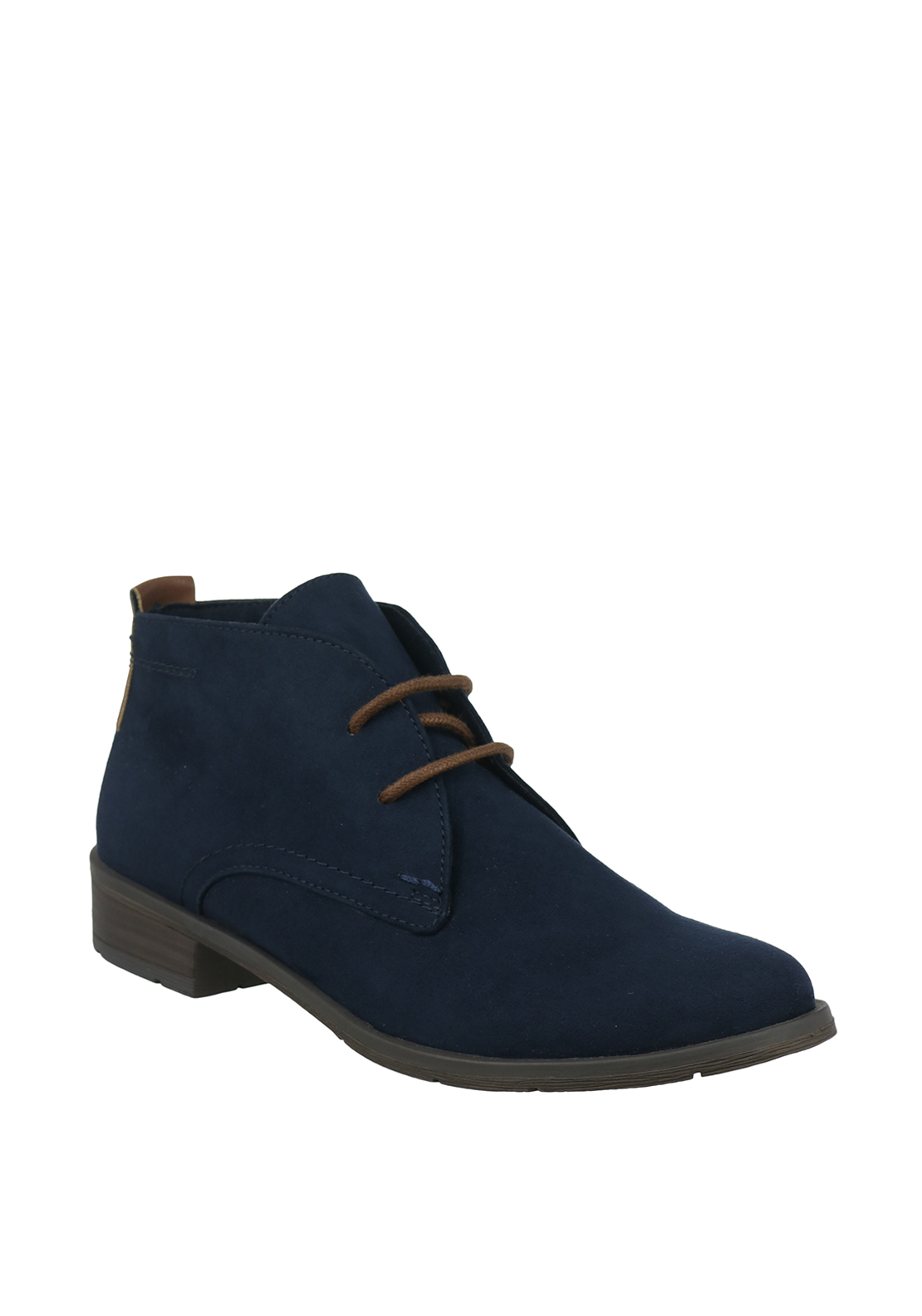 Marco Tozzi Faux Suede Dessert Boots, Navy