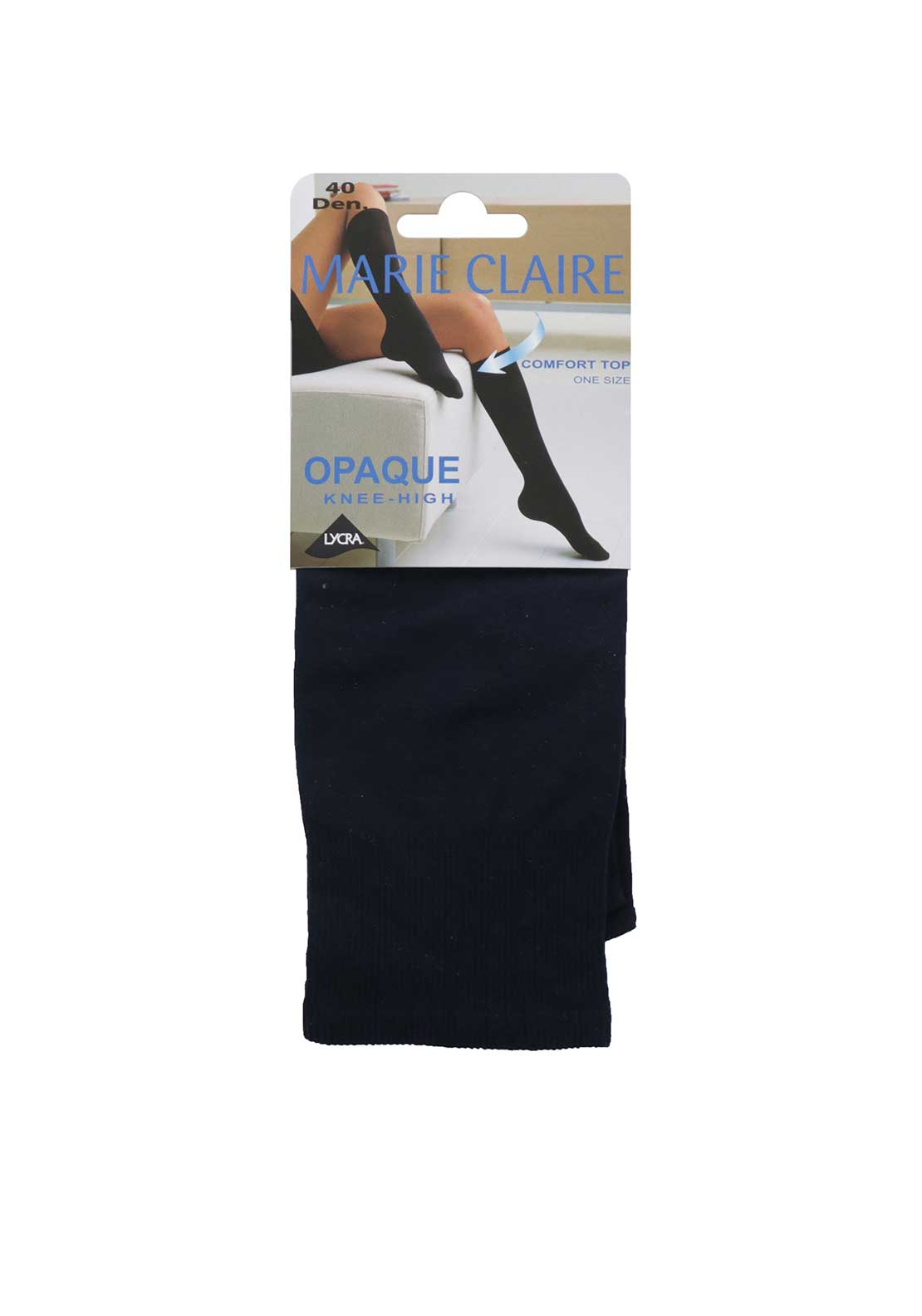 Marie Claire 40 Denier Knee High Tights, Navy