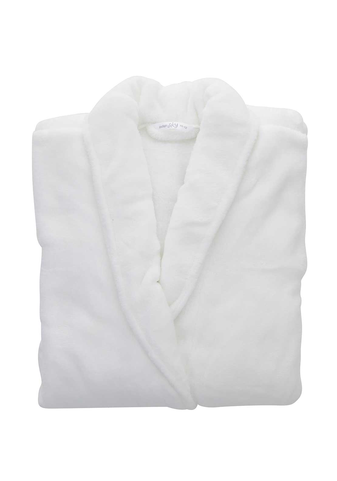 Indigo Sky Terry Dressing Gown, White