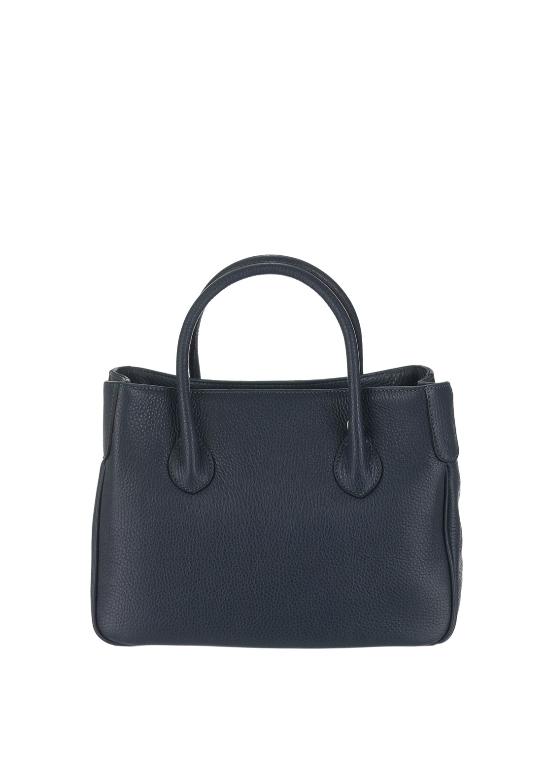 Maxima Leather Grab Bag, Navy