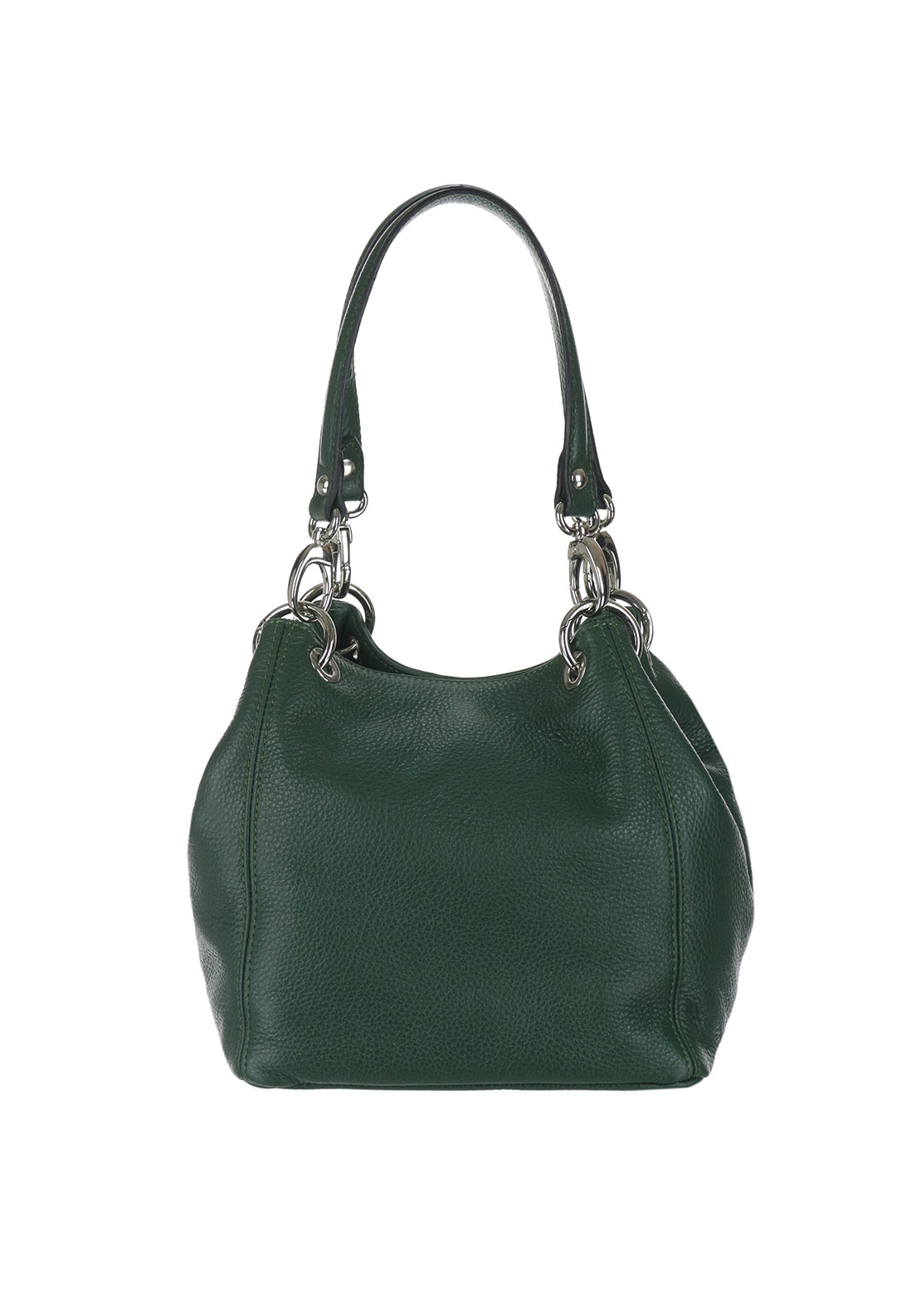 Maxima Leather Shoulder Bag, Green