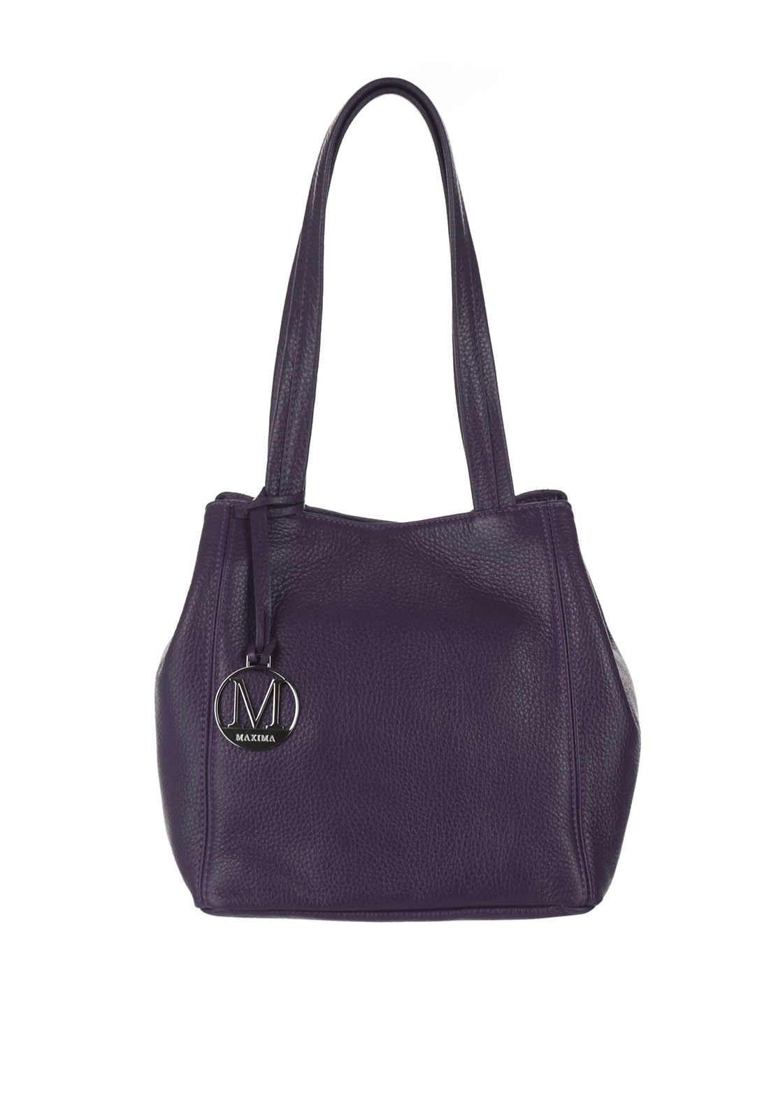 Maxima Leather Bucket Bag, Purple