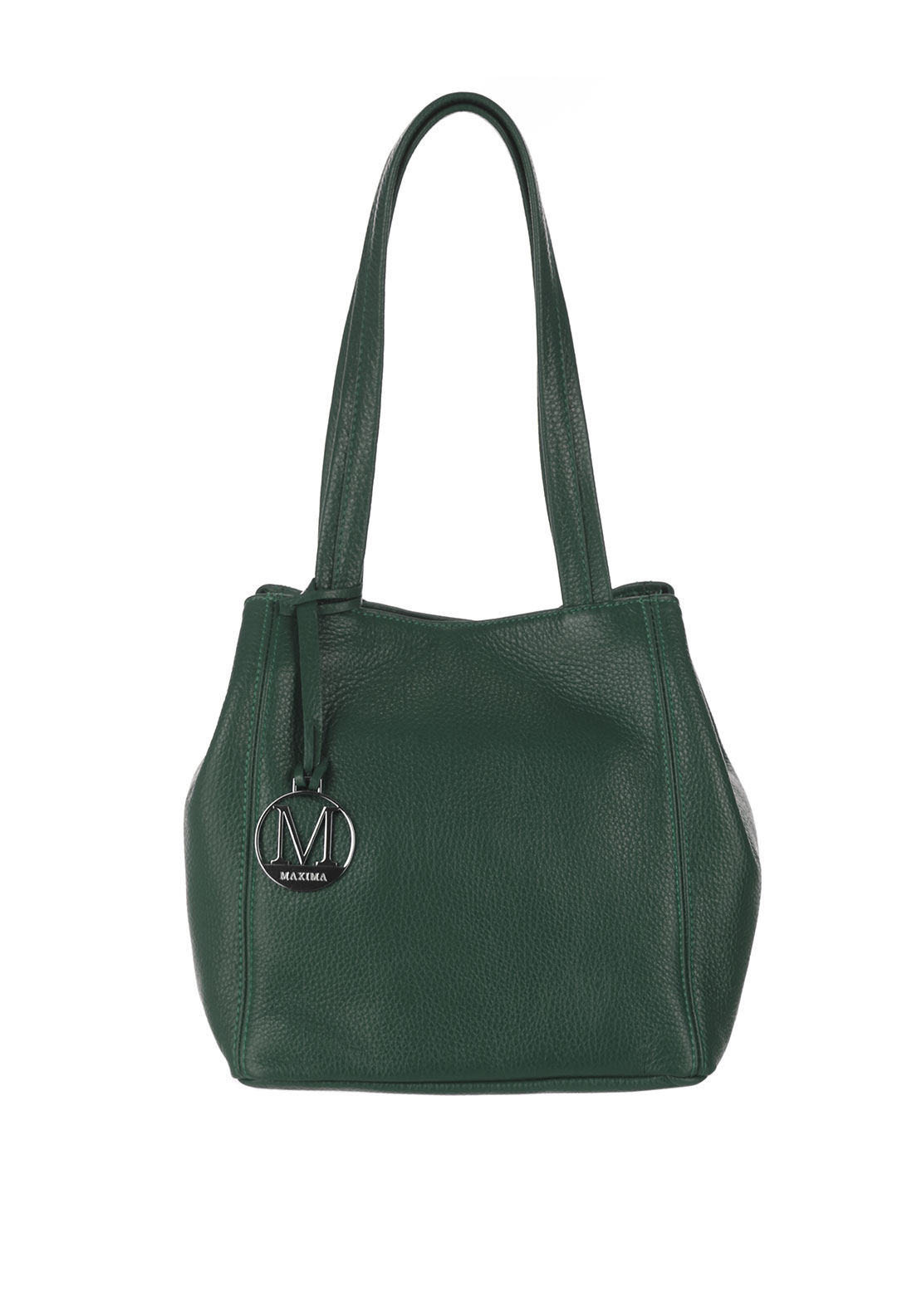 Maxima Leather Bucket Bag, Green