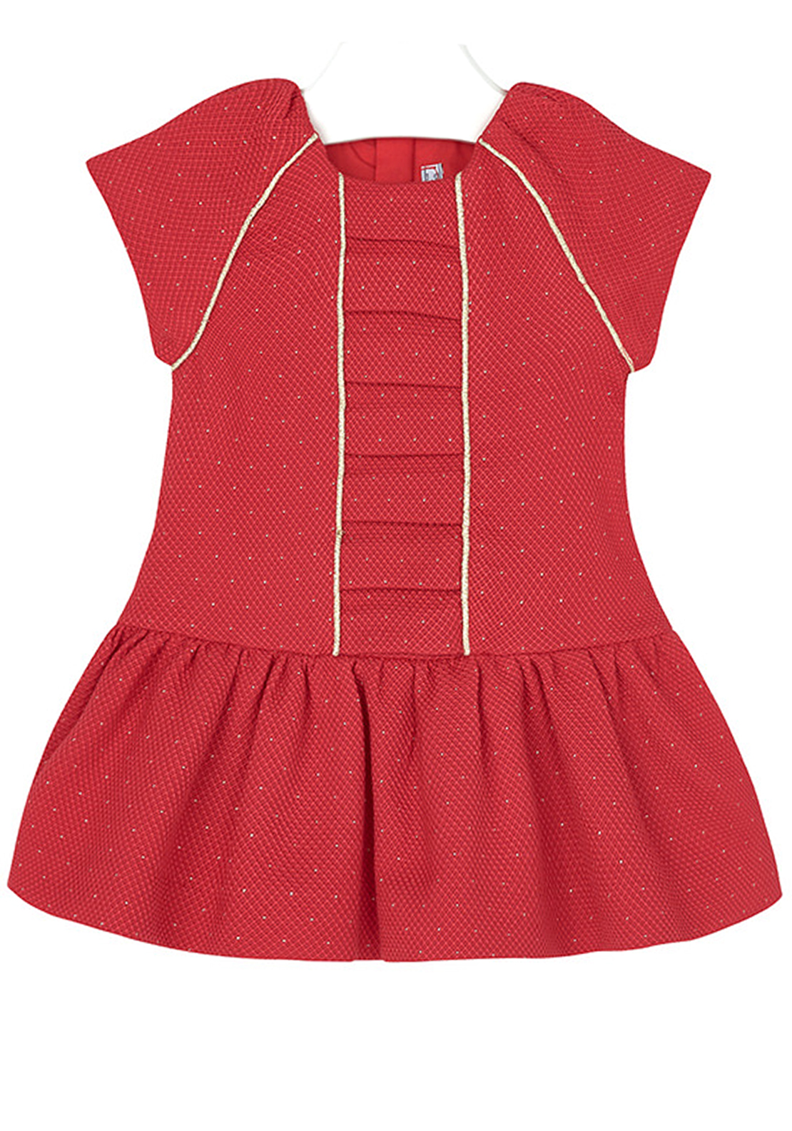 Mayoral Baby Girls Pique Metallic Dress, Red