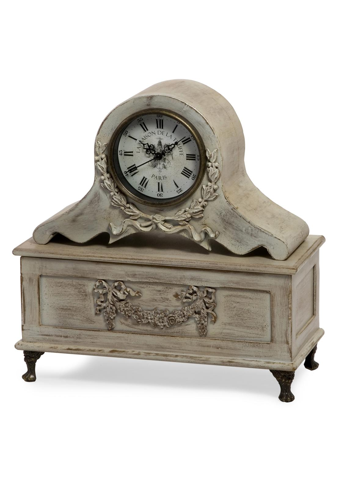 Mindy Browne Rusty Wood Finish Clock