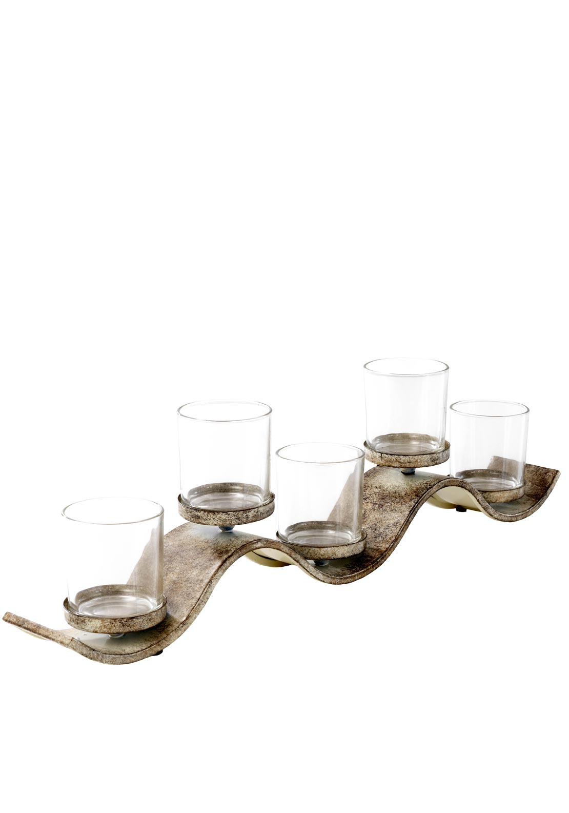 Mindy Brownes Waves Candle Holder Set of Five Candles, 7 inches