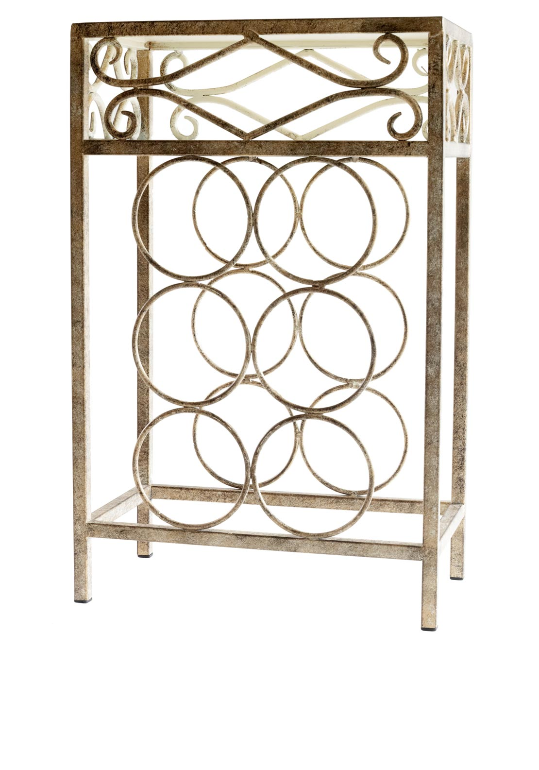 Mindy Brownes Metal 6 Bottle Wine Rack, 20 inches