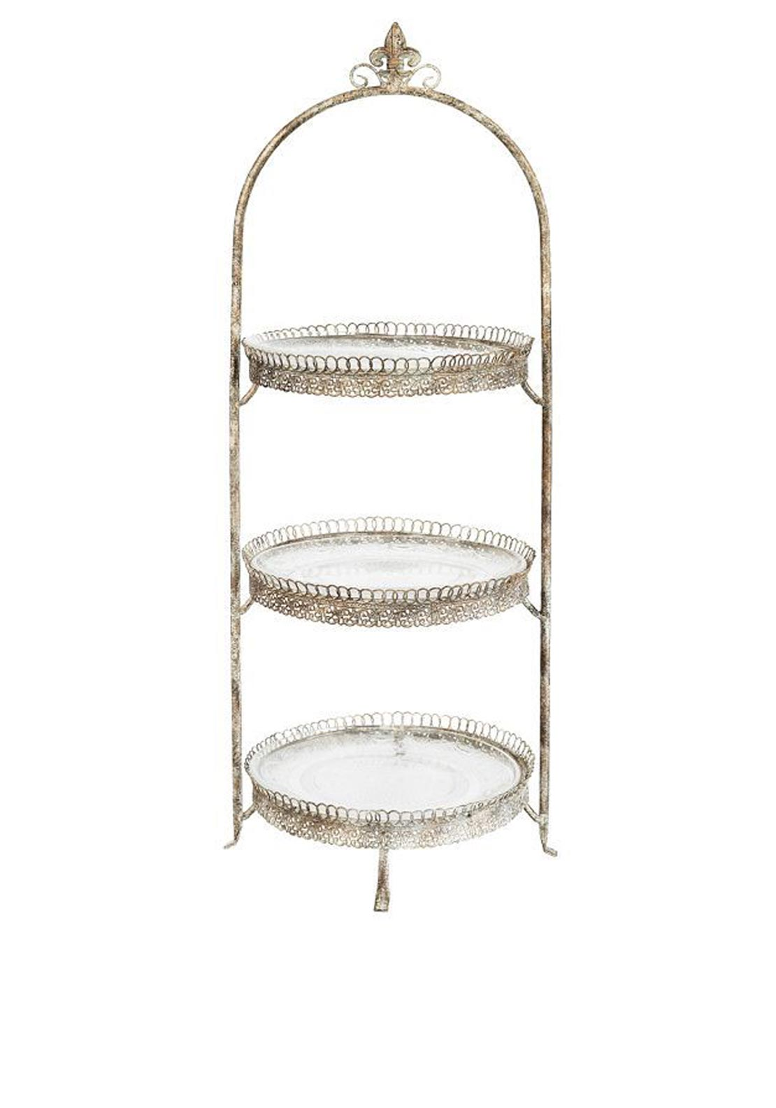 Mindy Brownes Triple Round Cake Stand, 28 inches