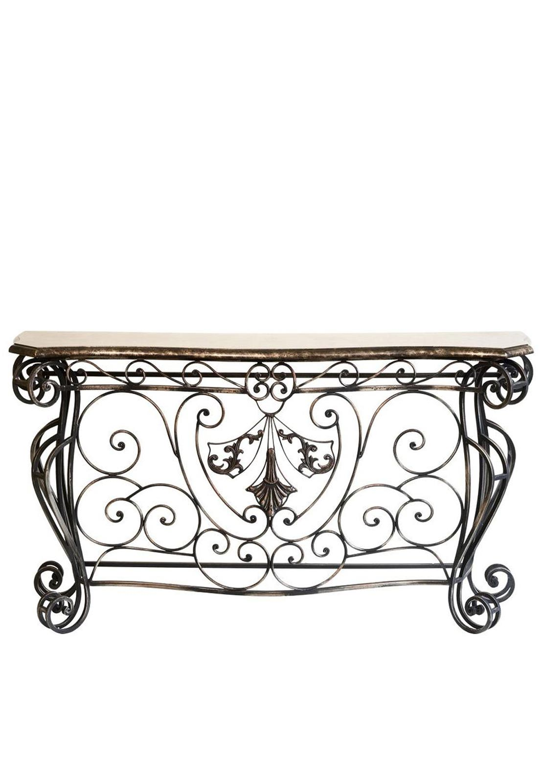 Mindy Brownes Ebony Console Table, Marble Effect
