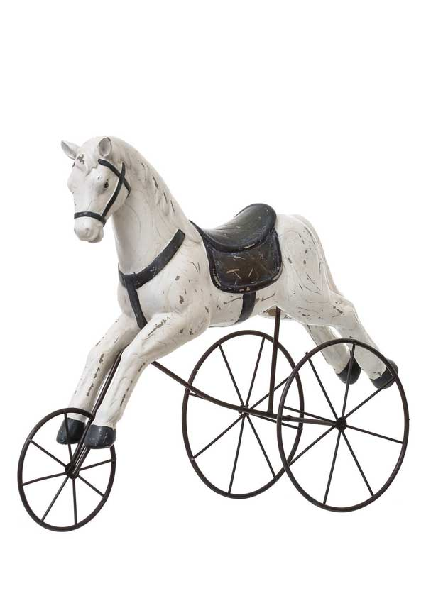 Mindy Brownes Vintage Toy Horse, White