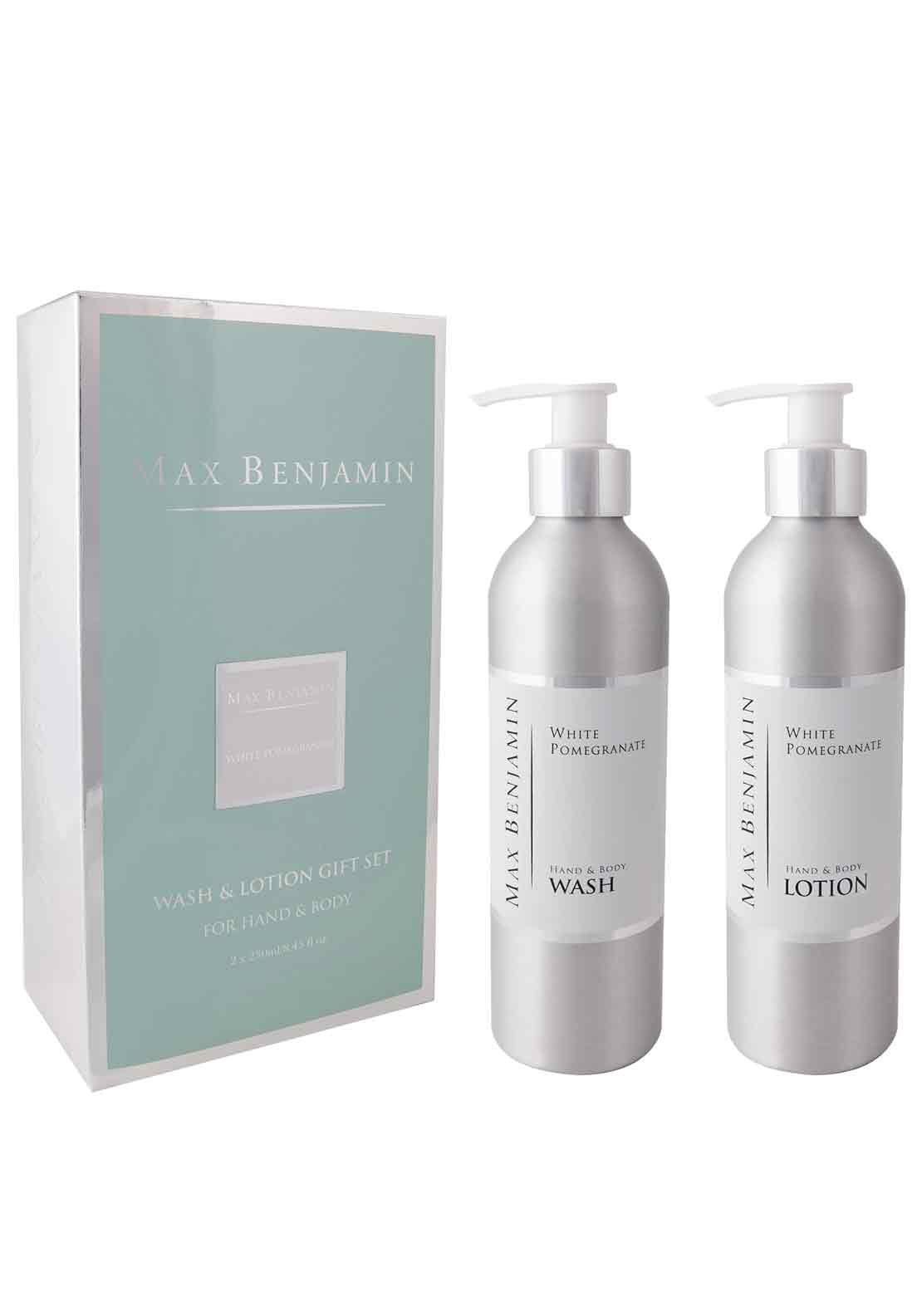 Max Benjamin White Pomegranate Hand & Body Wash & Lotion Gift Set