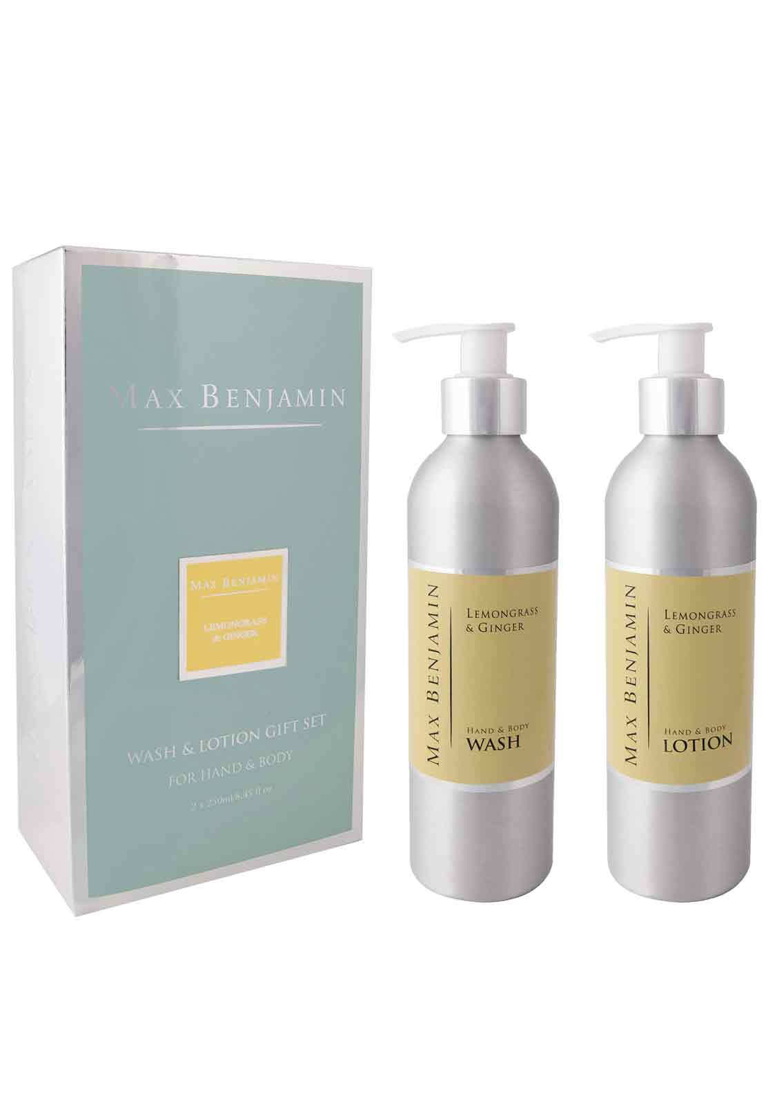 Max Benjamin Lemongrass & Ginger Hand & Body Wash & Lotion Gift Set