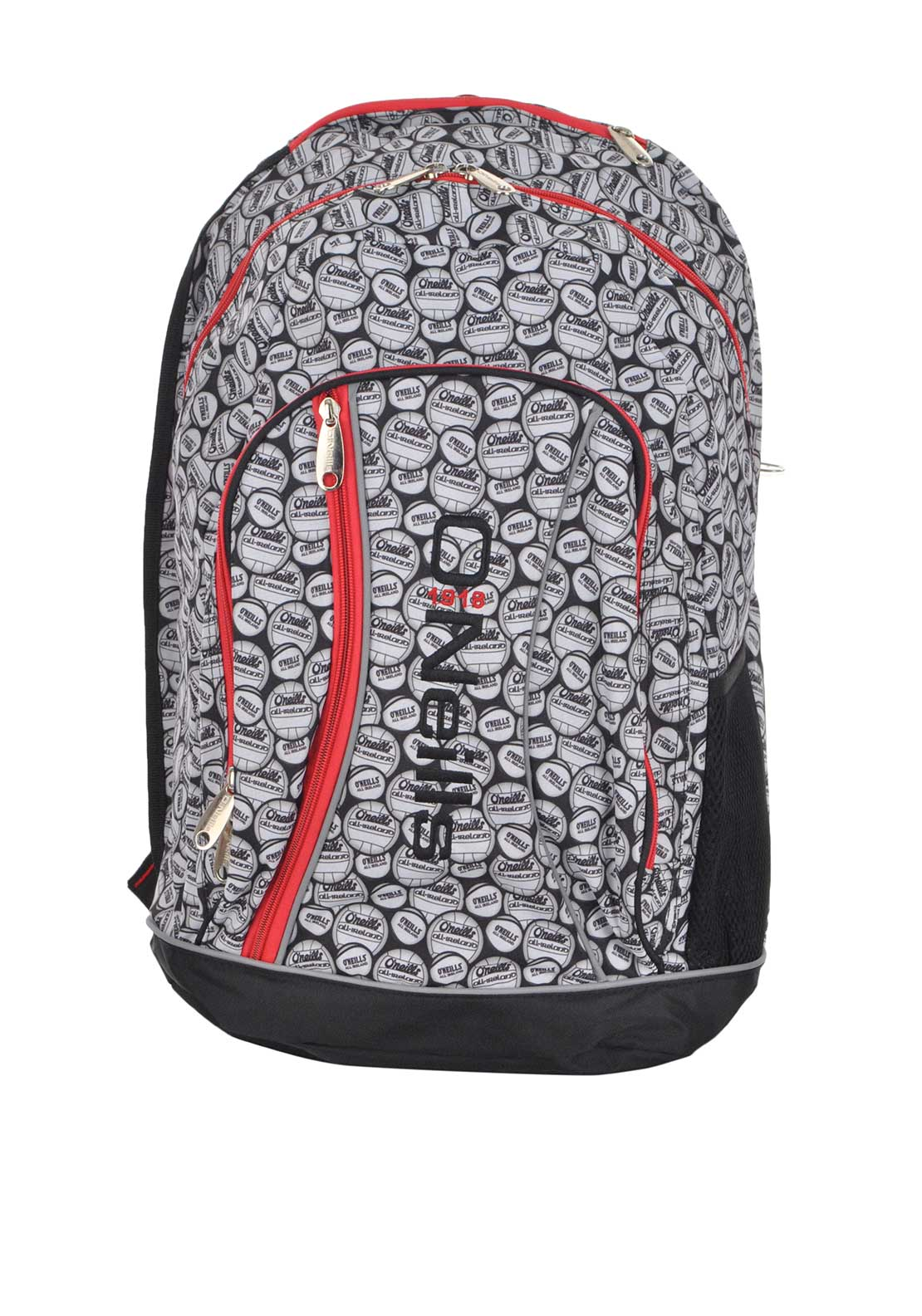 O'Neill's Printed Balls Marley Back Pack School Bag, Black and Red