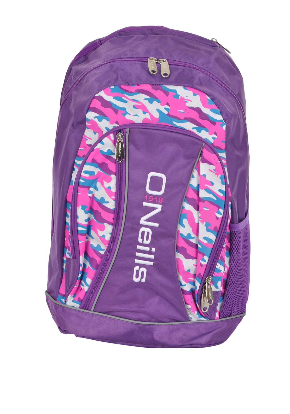 O'Neill's Camouflage Marley Back Pack School Bag, Purple