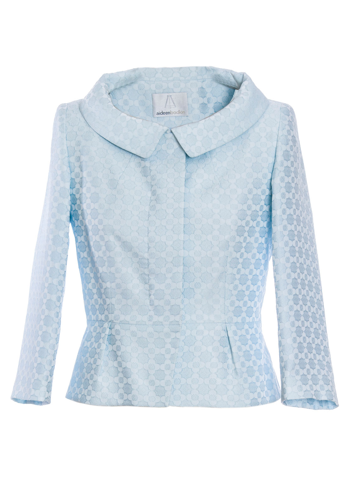 Aideen Bodkin Melia Embossed Jacket, Aqua