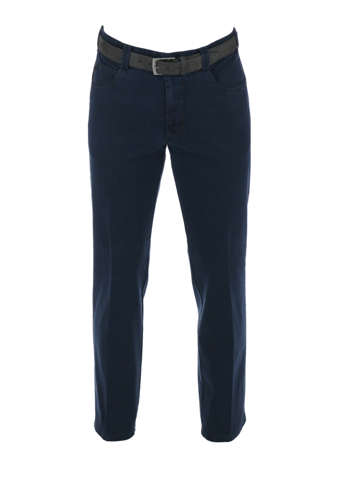 Meyer Diego Belted Denim Trousers, Blue