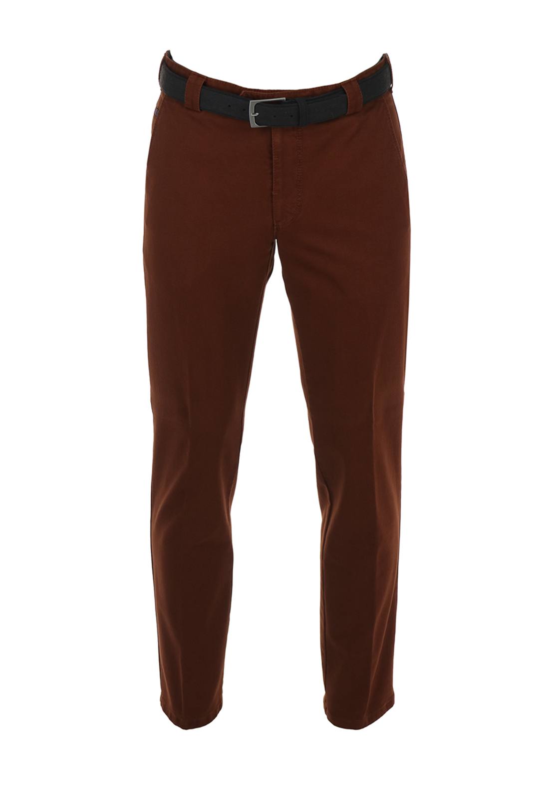 Meyer Roma Belted Chino Trousers, Rust