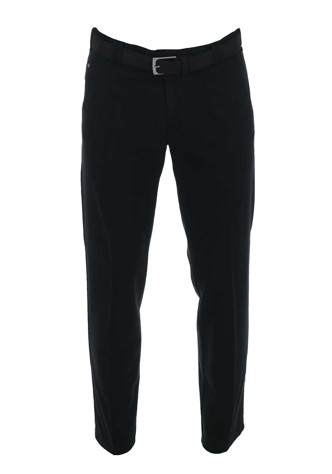 Meyer Roma Belted Chino Trousers, Black