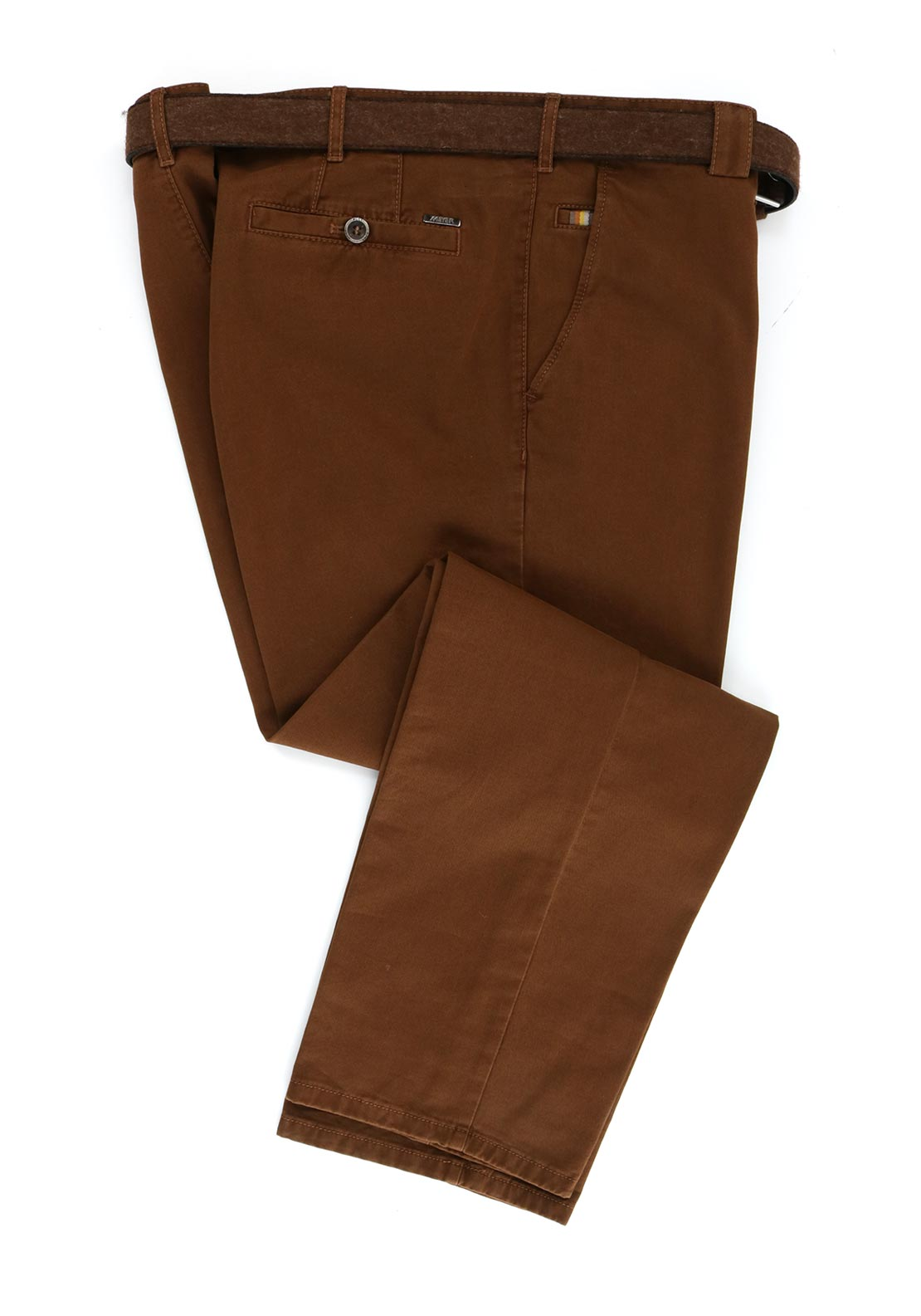 Meyer Mens Roma Comfort Fit Trouser, Tobacco