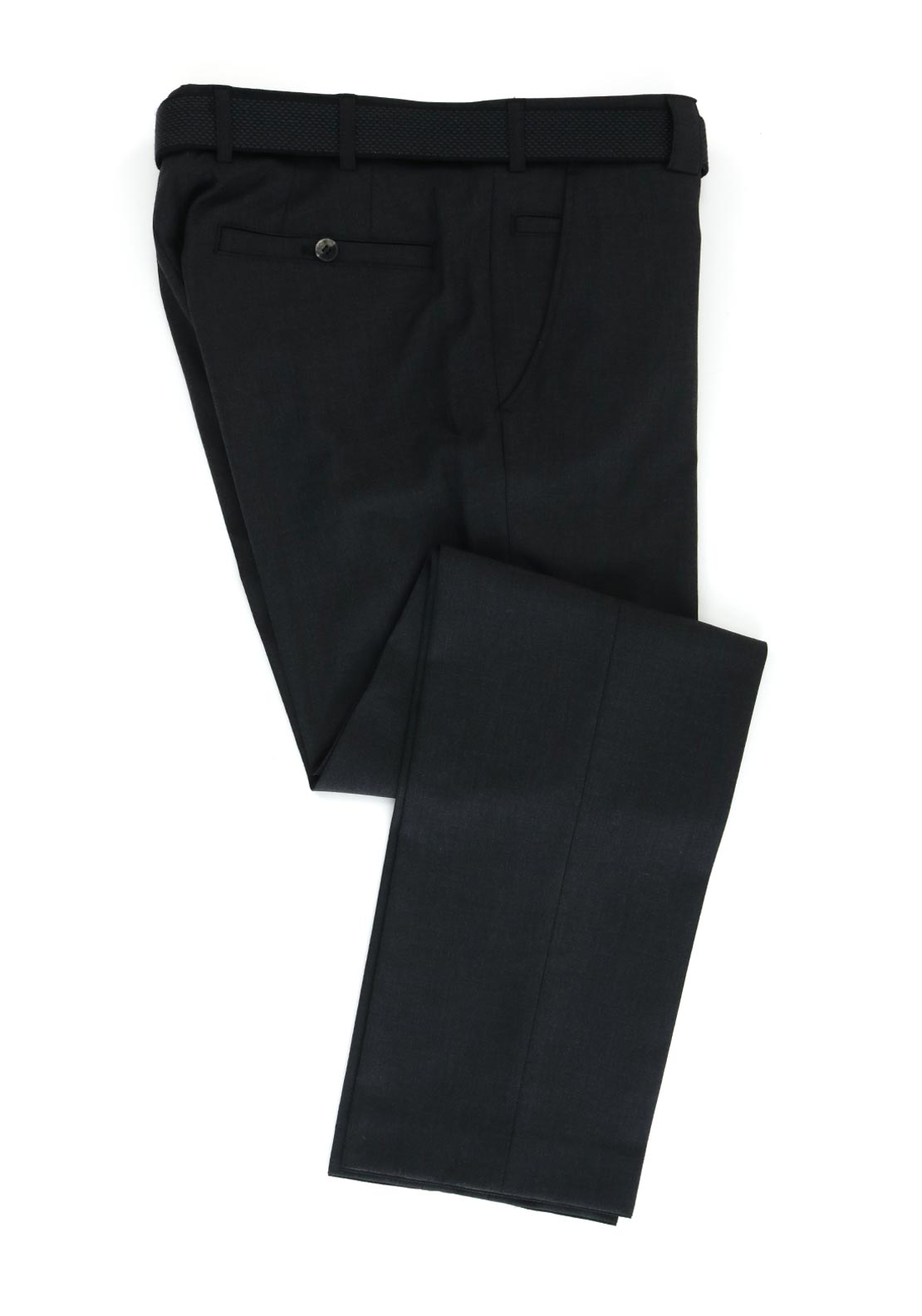 Meyer Mens Roma Comfort Fit Formal Trousers, Charcoal