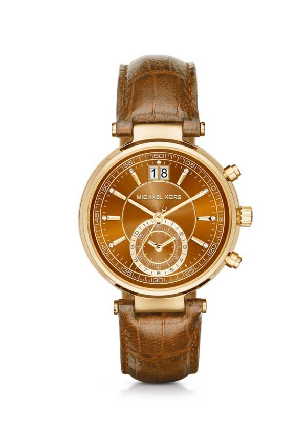 Michael Kors Ladies' Gold Sawyer Watch