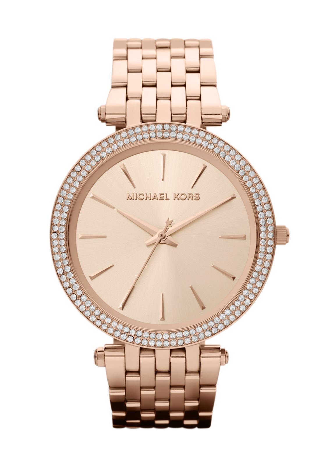 Michael Kors Womens Darci Pave Watch, Rose Gold