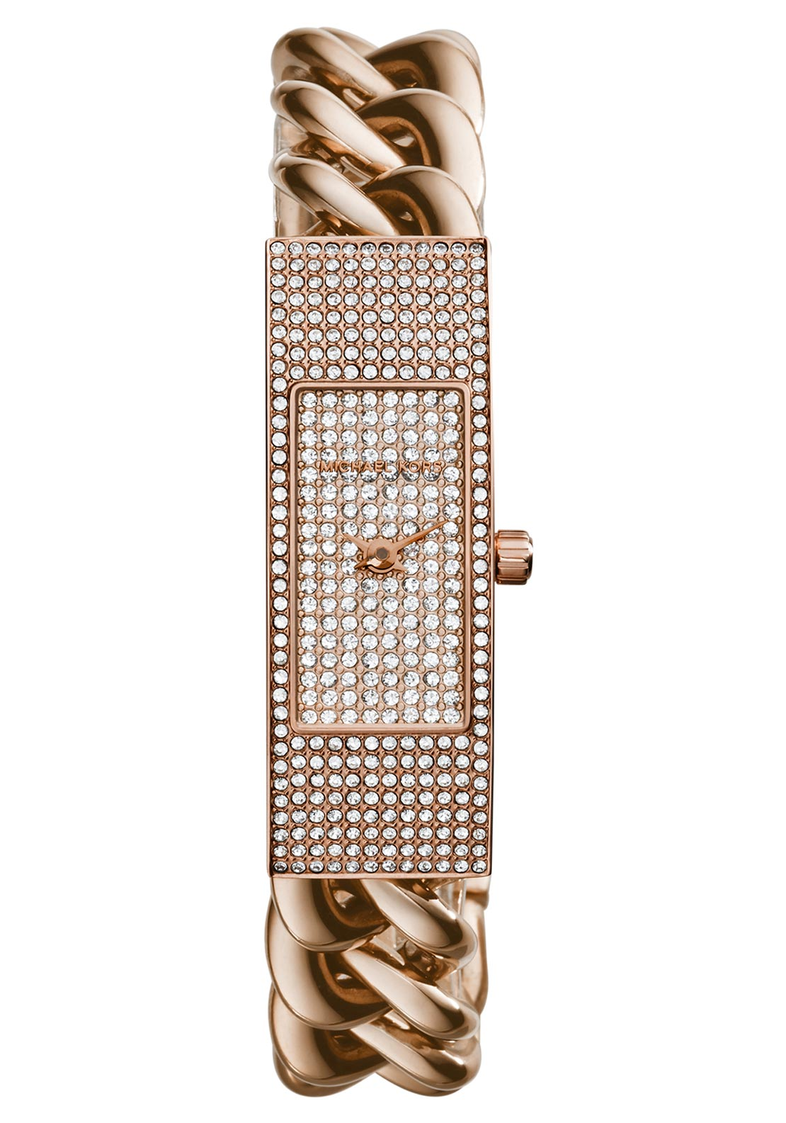 Michael Kors Womens Hayden Chain Link Watch, Rose Gold