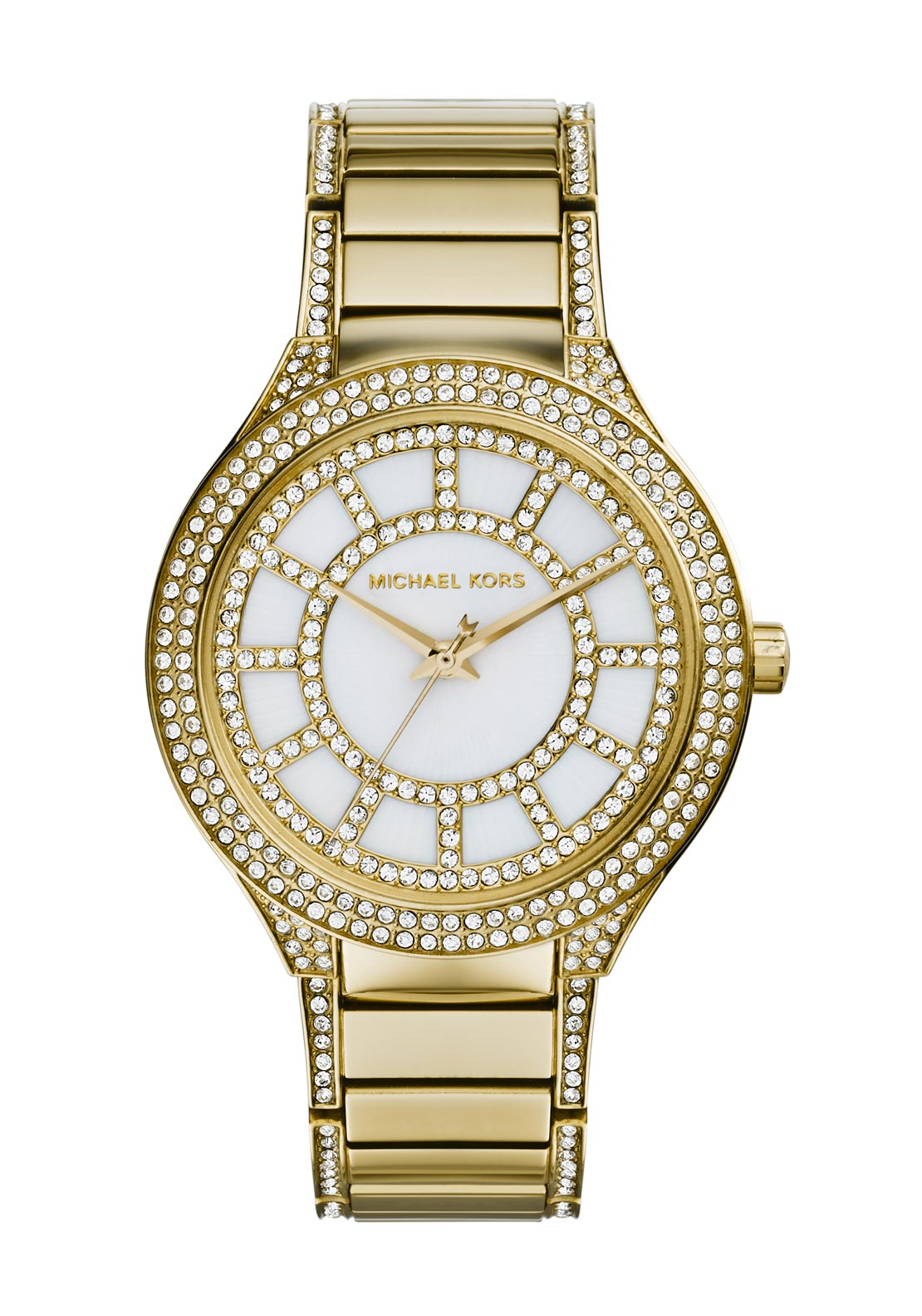 Michael Kors Womens Kerry Pave Embellished Watch, Gold