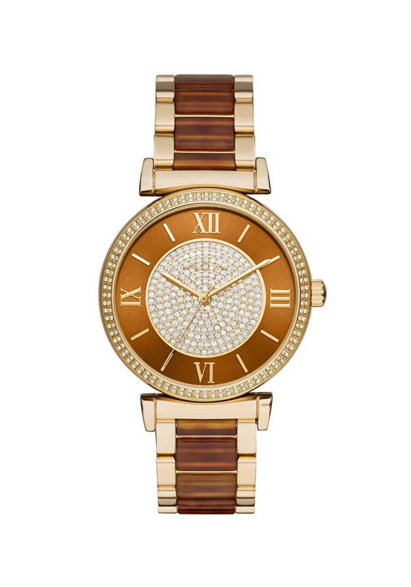 Michael Kors Ladies' Gold Catlin Watch, Amber