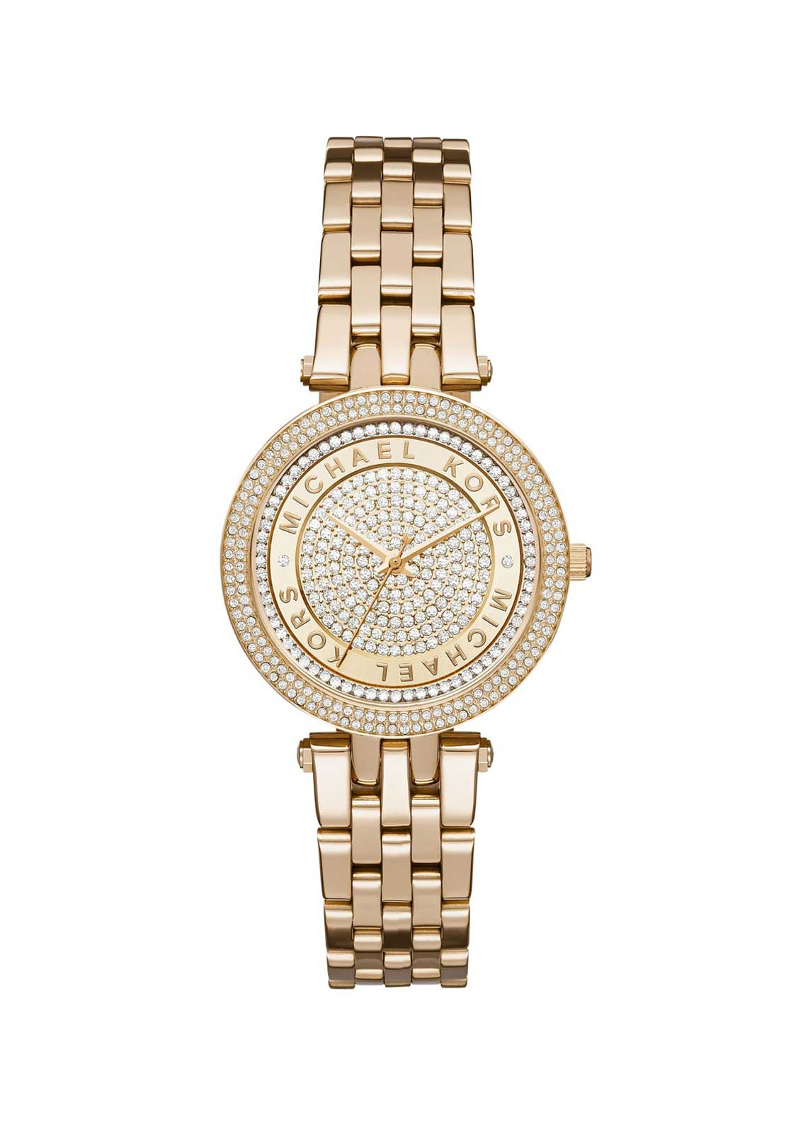 Michael Kors Ladies Mini Darci Crystal Watch, Gold