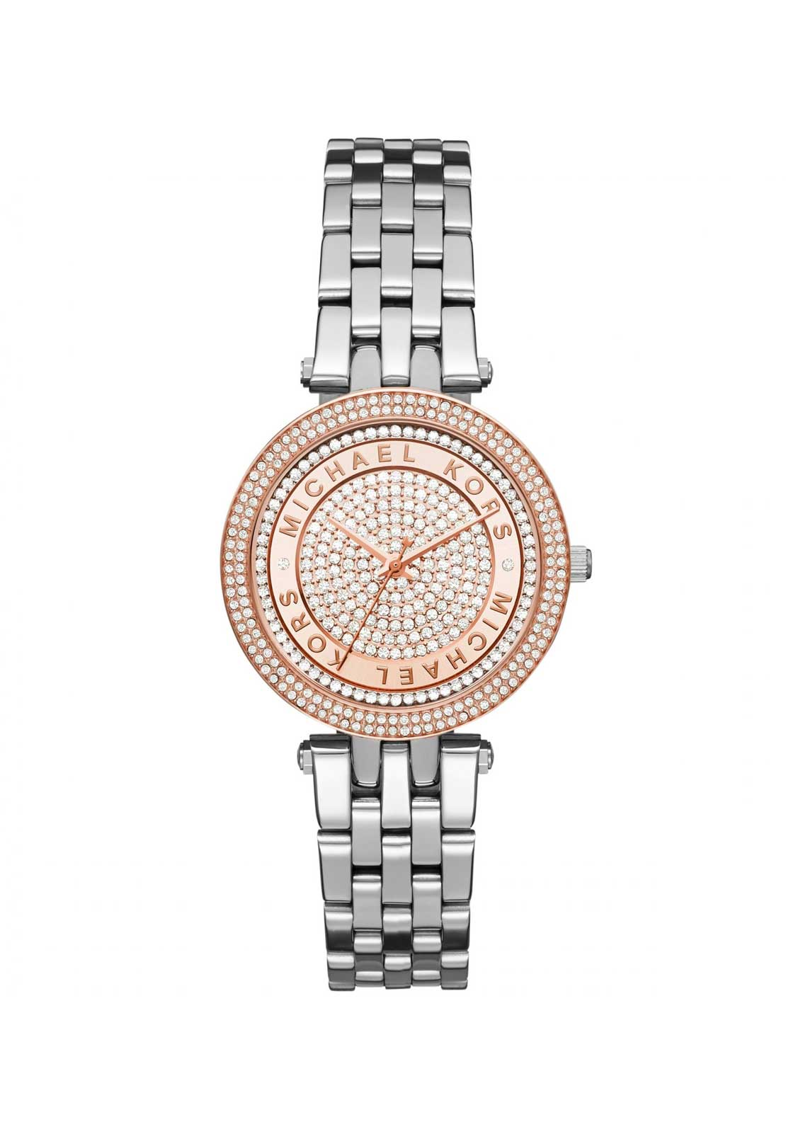 Michael Kors Ladies Mini Darci Crystal Watch, Silver