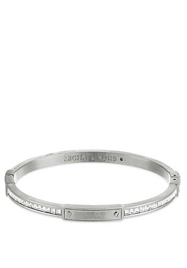 Michael Kors Womens Park Avenue Bangle, Silver