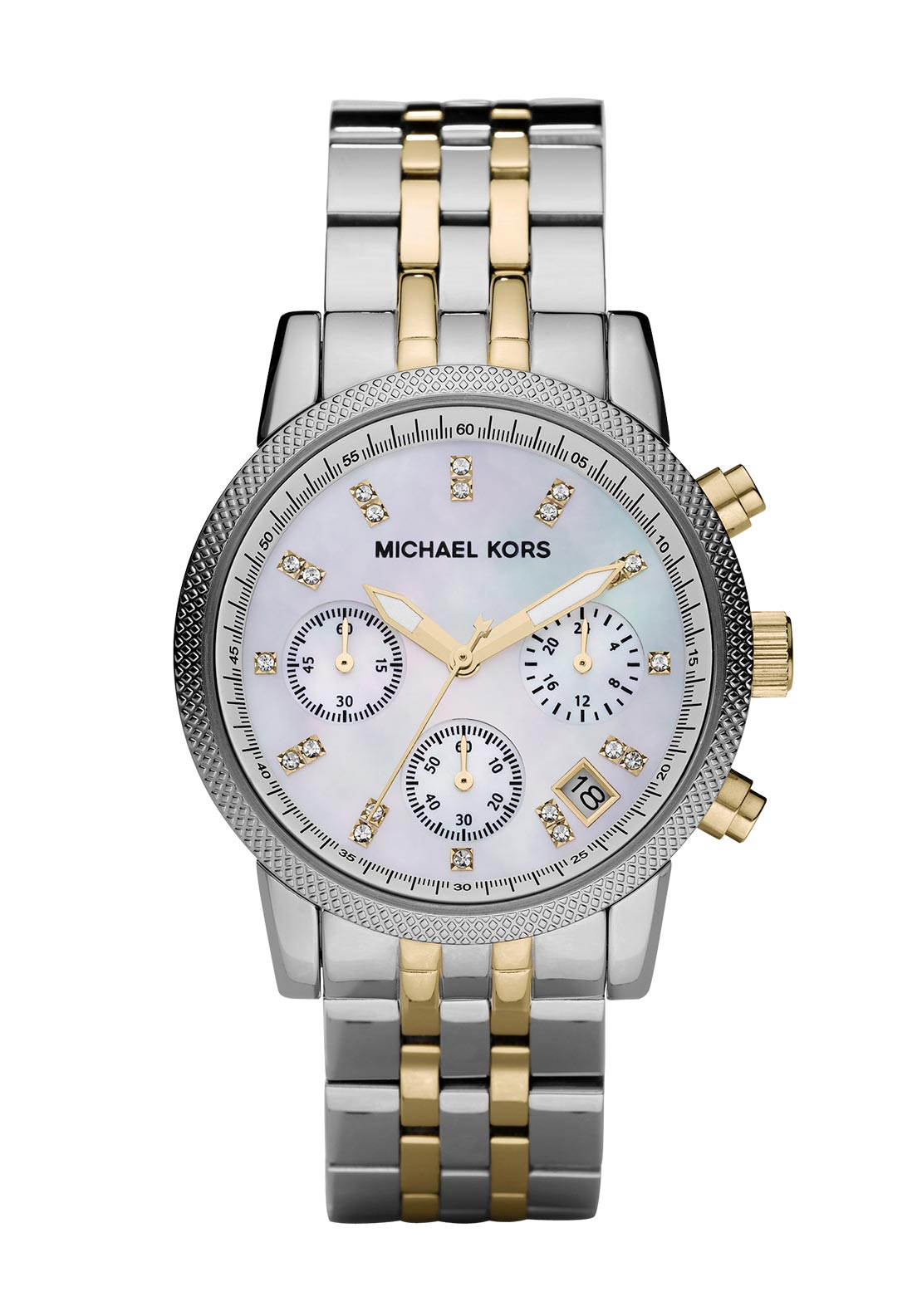 Michael Kors Womens Ritz Chronograph Duo Watch, Silver
