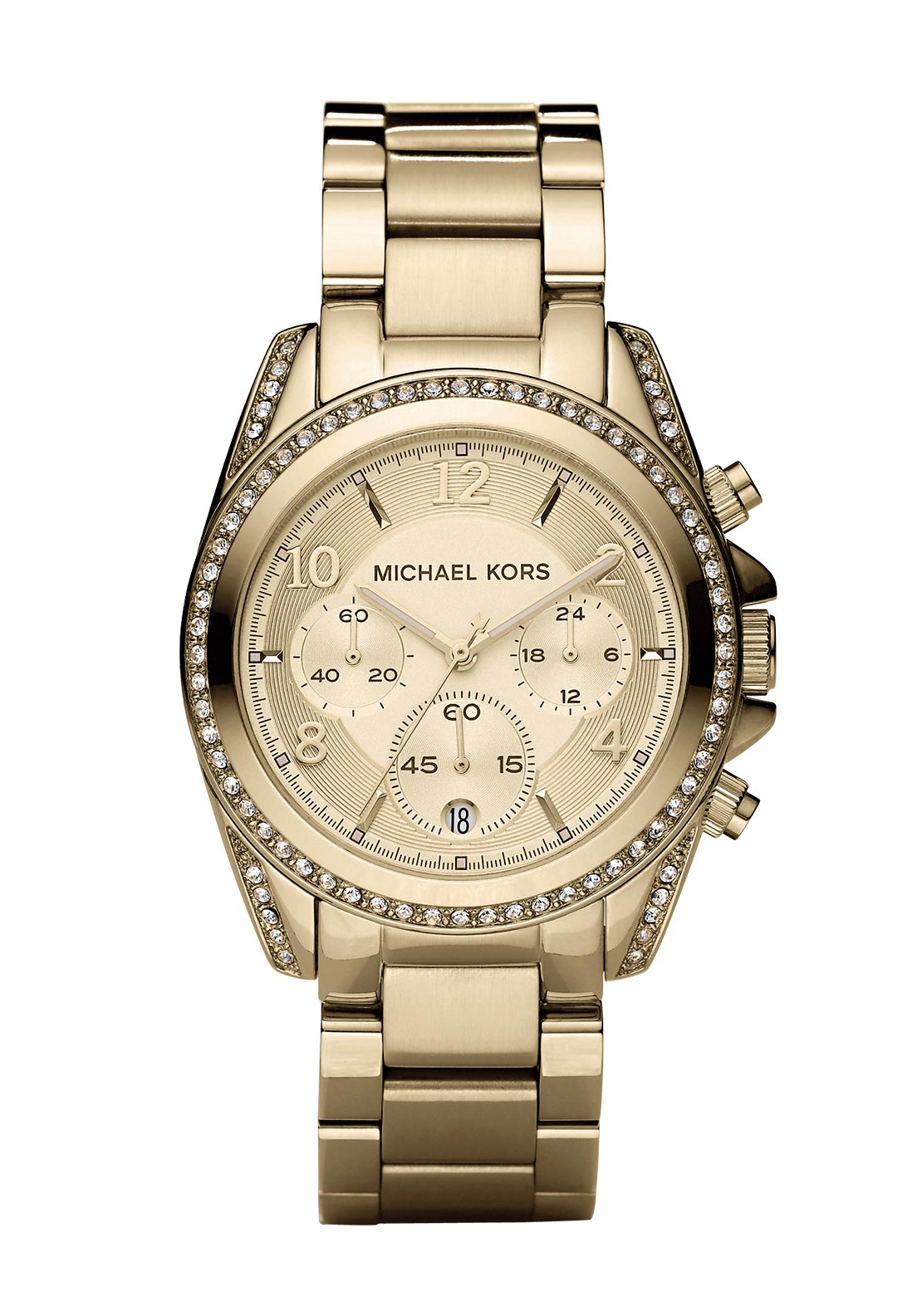 Michael Kors Womens Blair Chronograph Watch, Gold