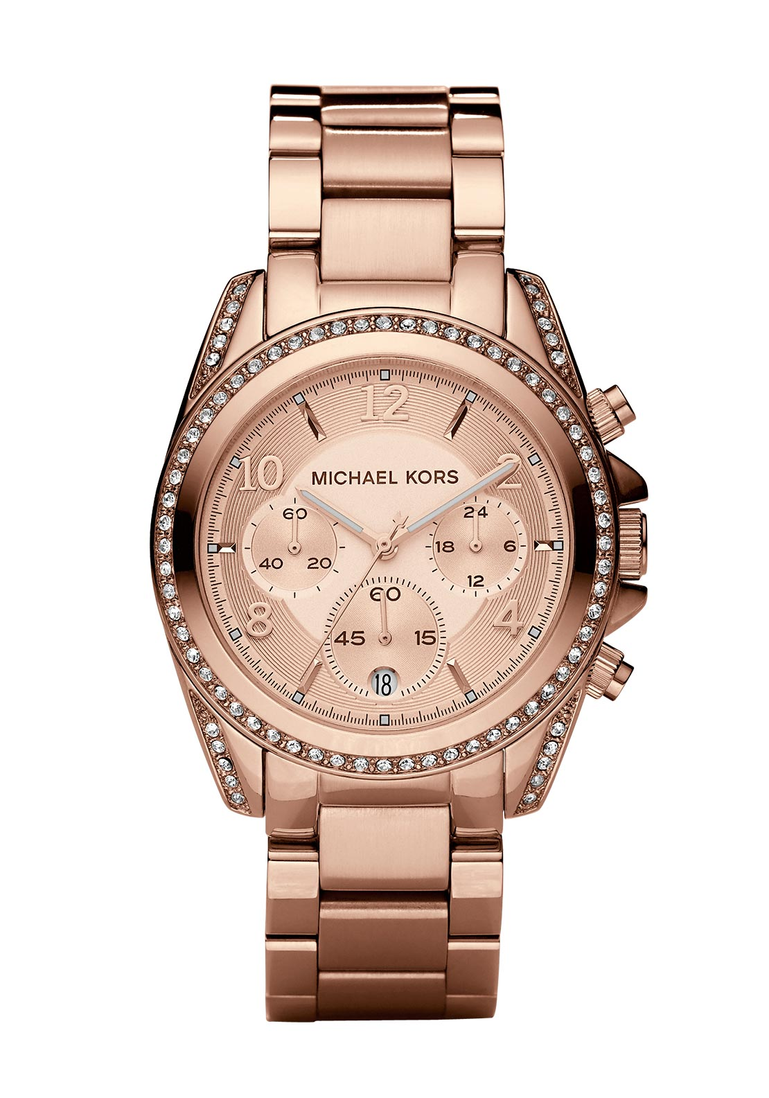 Michael Kors Womens Blair Chronograph Watch, Rose Gold