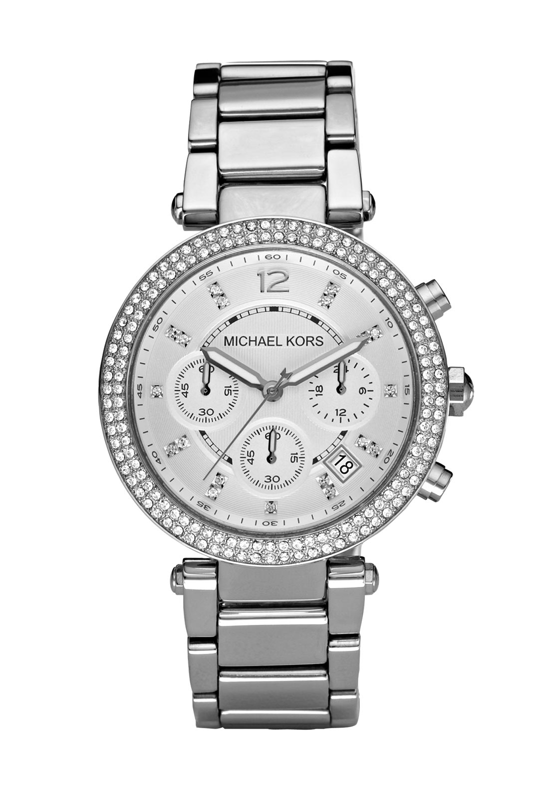 Michael Kors Womens Parker Watch, Silver