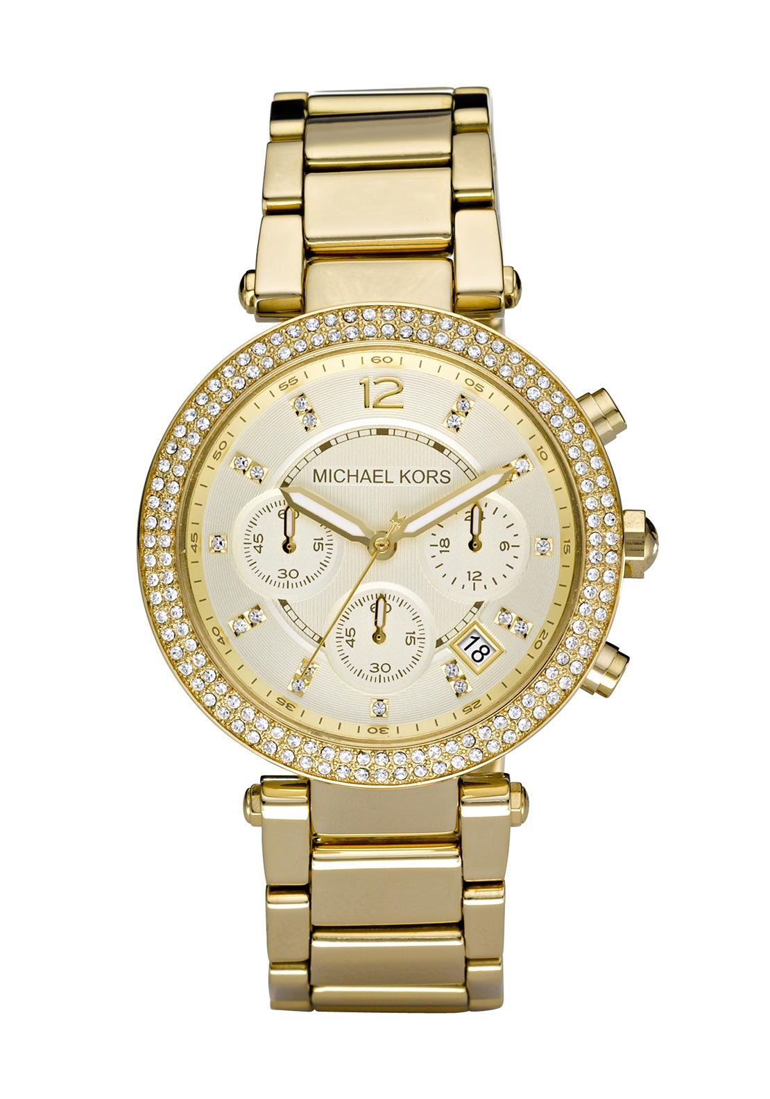 Michael Kors Womens Parker Watch, Gold