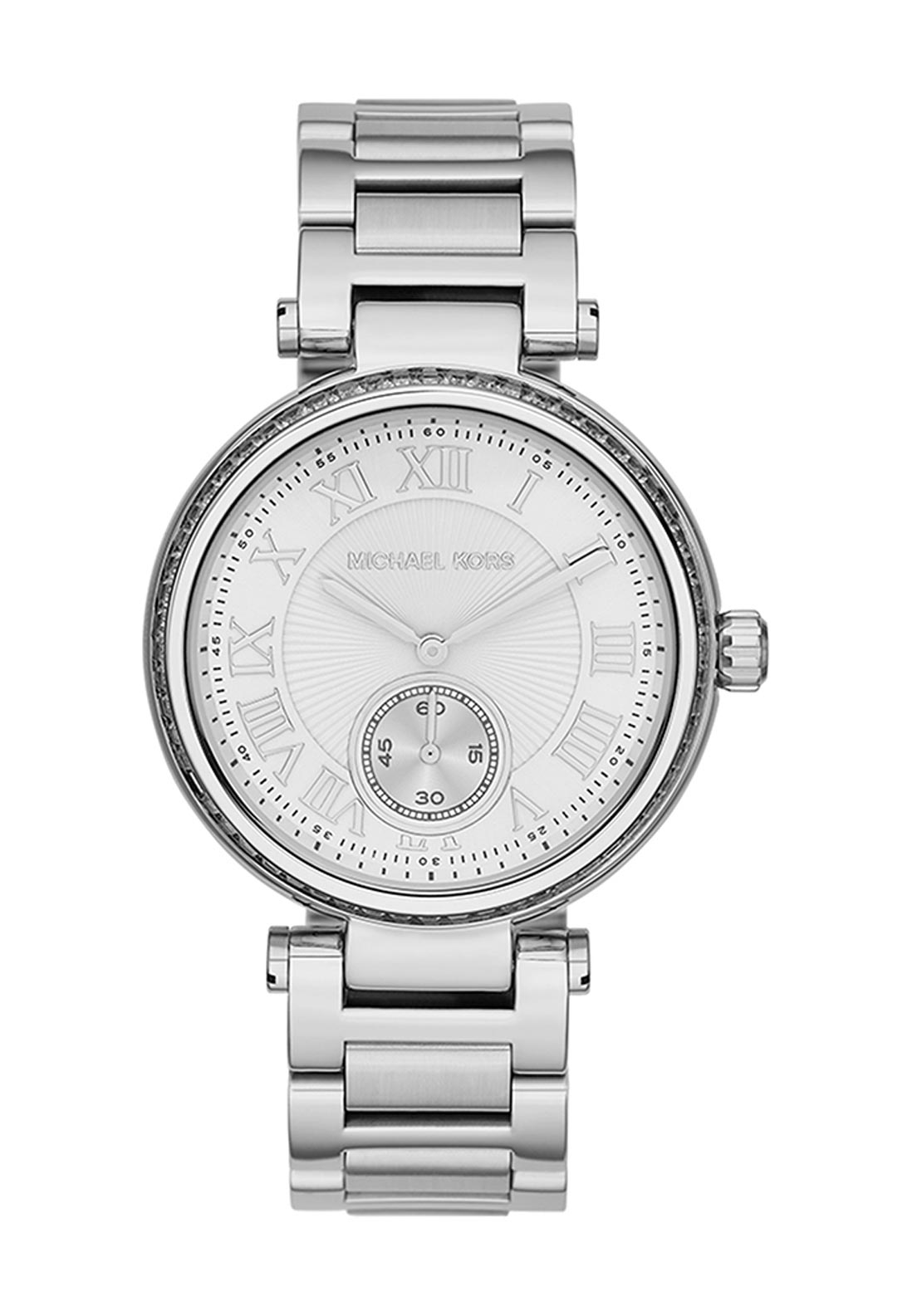 Michael Kors Womens Skylar Stainless Steel Watch, Silver