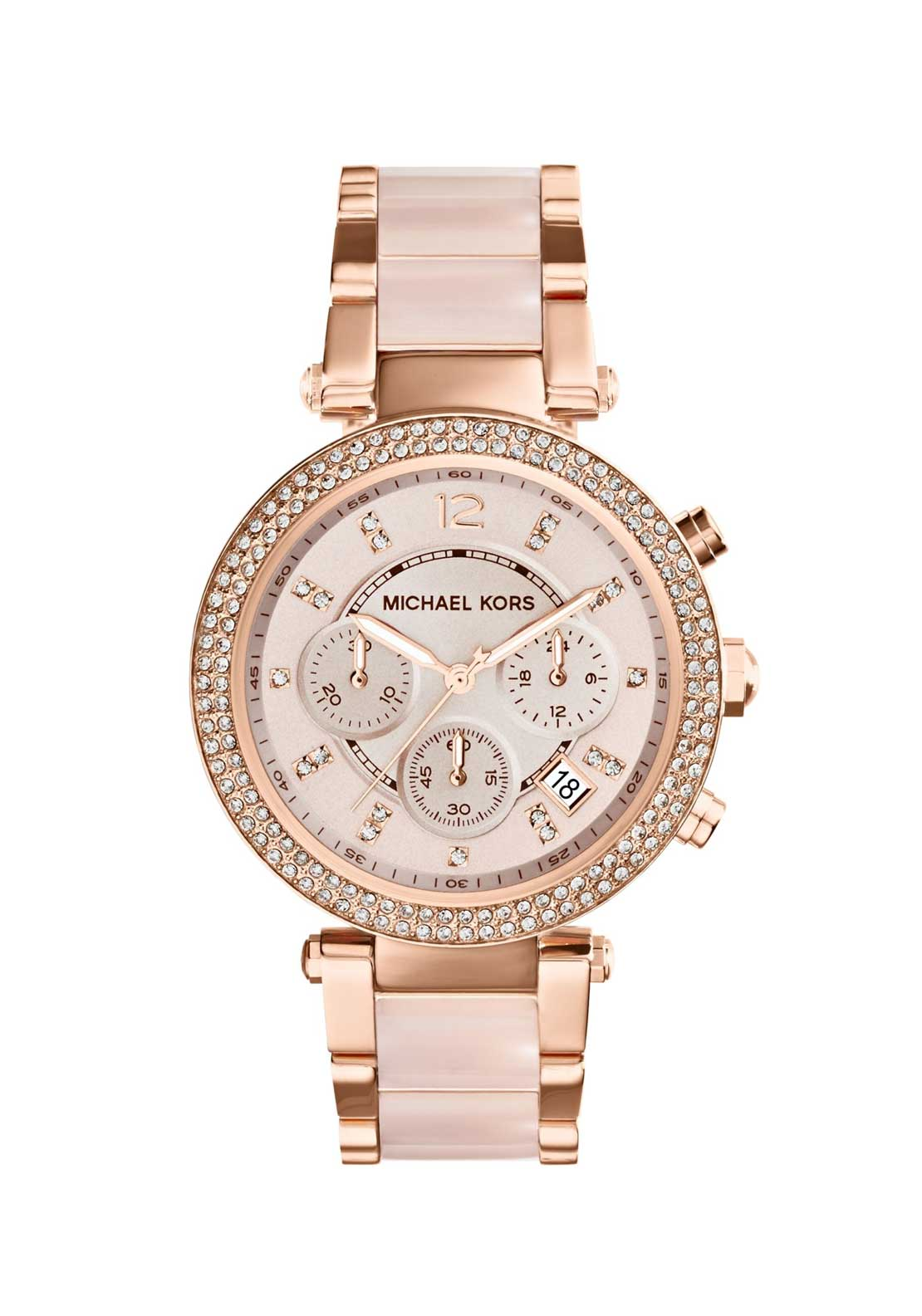 Michael Kors Ladies Parker Chronograph Watch, Blush