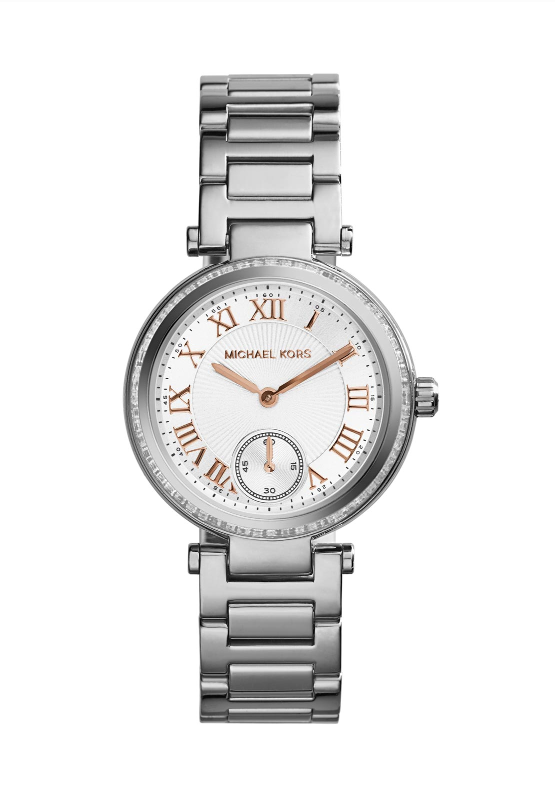 Michael Kors Womens Mini Skylar Watch, Silver