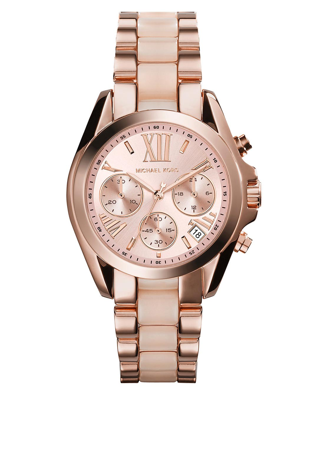 Michael Kors Womens Bradshaw Watch, Rose Gold