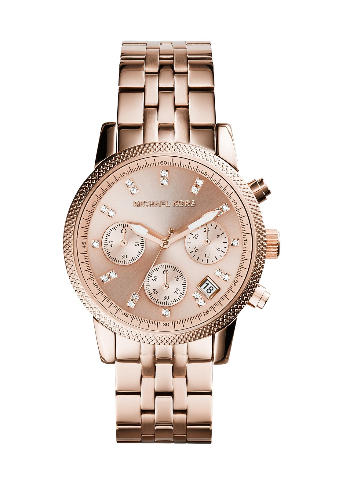 Michael Kors Womens Ritz Chronograph Watch, Rose Gold