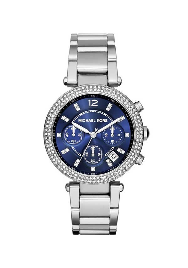 Michael Kors Ladies Parker Chronograph Watch, Navy